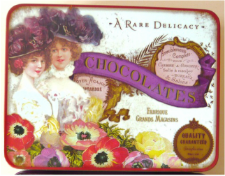 Vintage Tin filled with chocolates