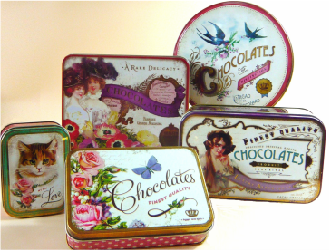 Vintage style Tins - filled with award winning chocolates