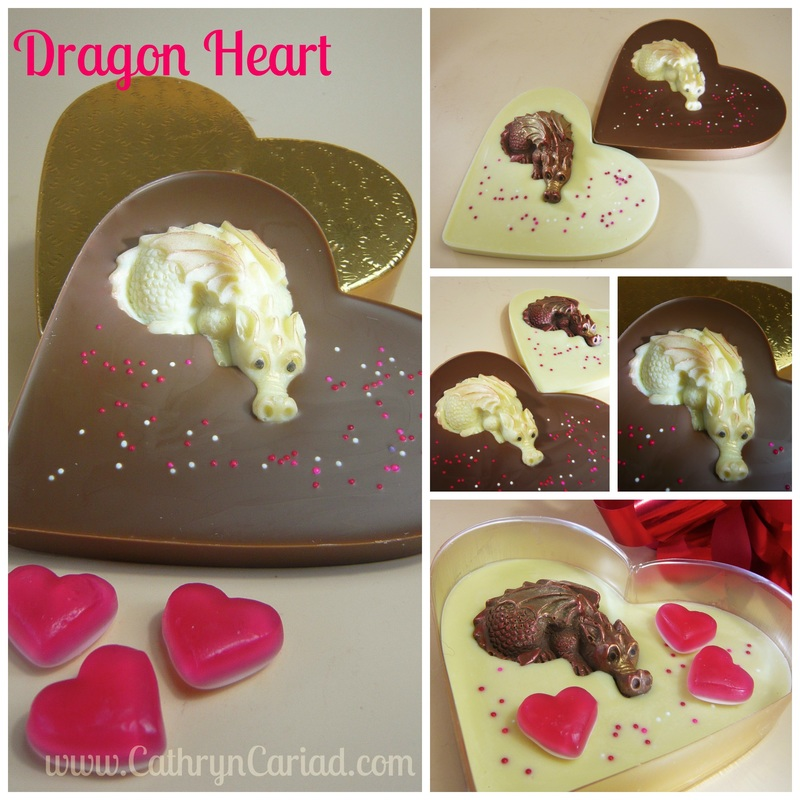 Dragon Heart (flat) - Cathryn Cariad Chocolates