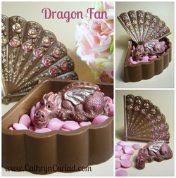 Dragon Fan Box - Cathryn Cariad Chocolates