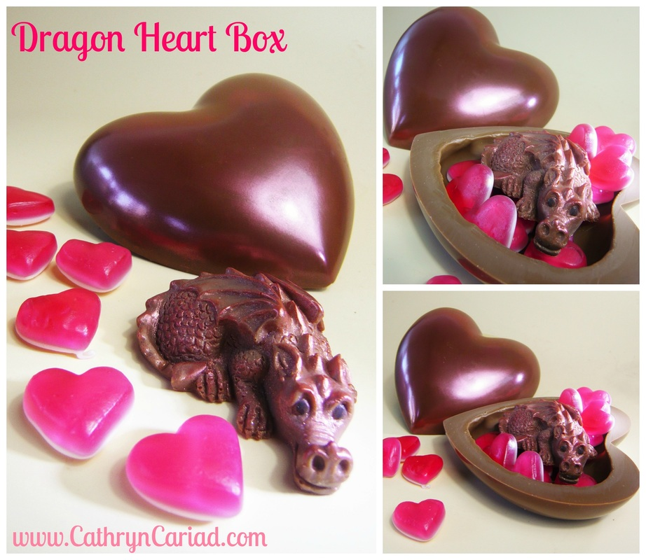 Dragon Heart Box - Cathryn Cariad Chocolates