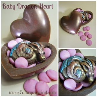 Baby Dragon Heart Box - Cathryn Cariad Chocolates