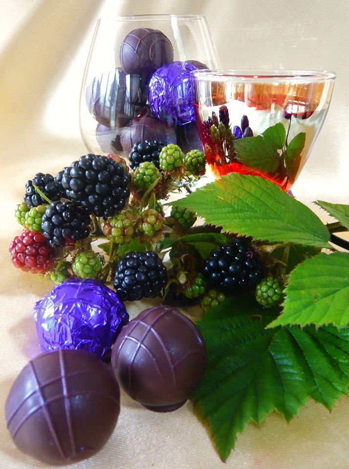 Blackberry Brandy Truffles
