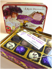 Antique style Tins filled with award winning chocolates