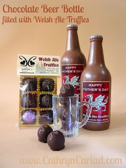 Chocolate Beer Bottle with Welsh Ale Truffles