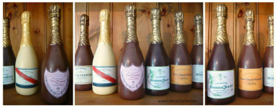 Personalised Chocolate Champagne Bottles