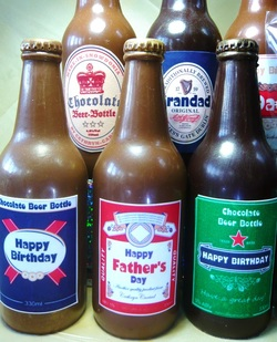 Personalised Chocolate Beer Bottles