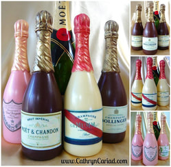 Chocolate Champagne Bottles - personalised